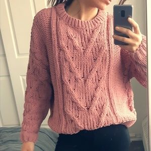 Oversize chunky knit sweater-Never worn